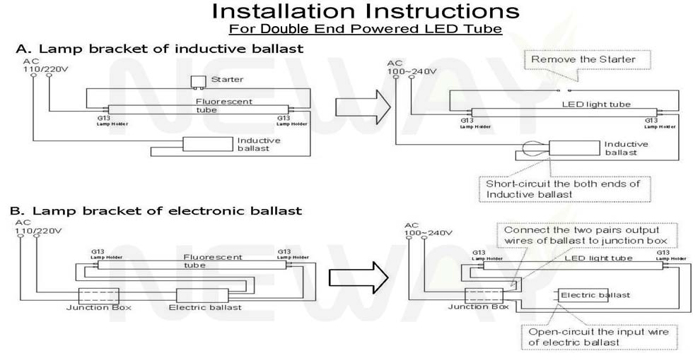 Old Fashioned James Led Tube Wiring Diagram Image - Electrical and ...