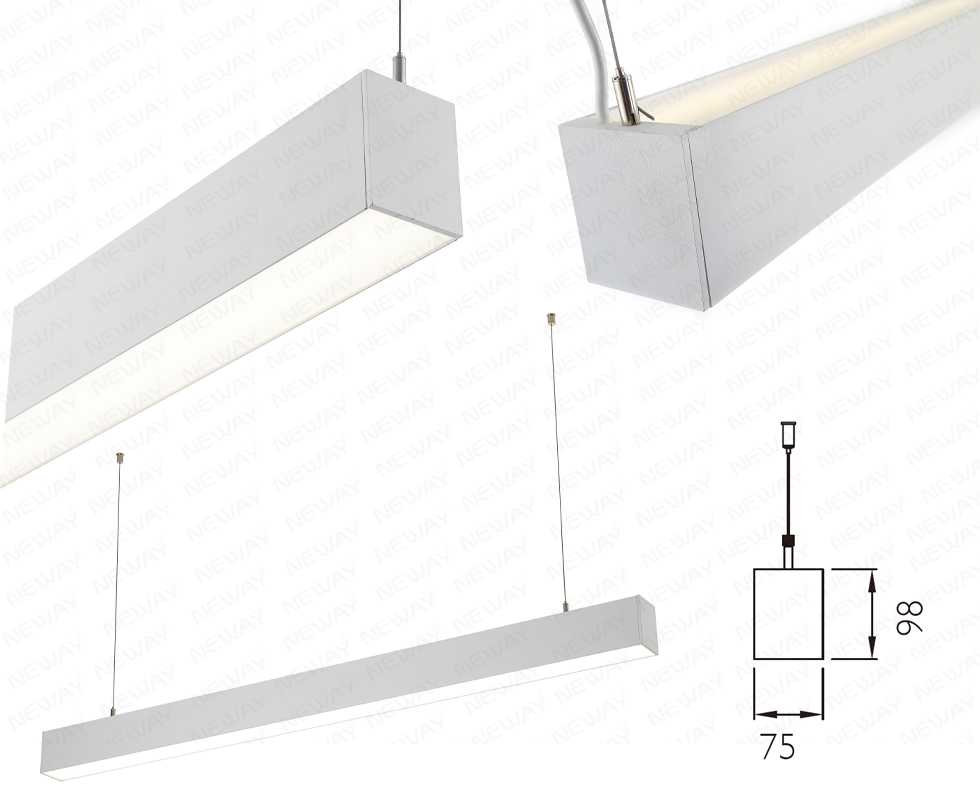 Linear suspension led directindirect lighting suspended linear linear suspension led directindirect lighting suspended linear led directindirect light fixture office linear pendant lighting specifictions aloadofball Choice Image