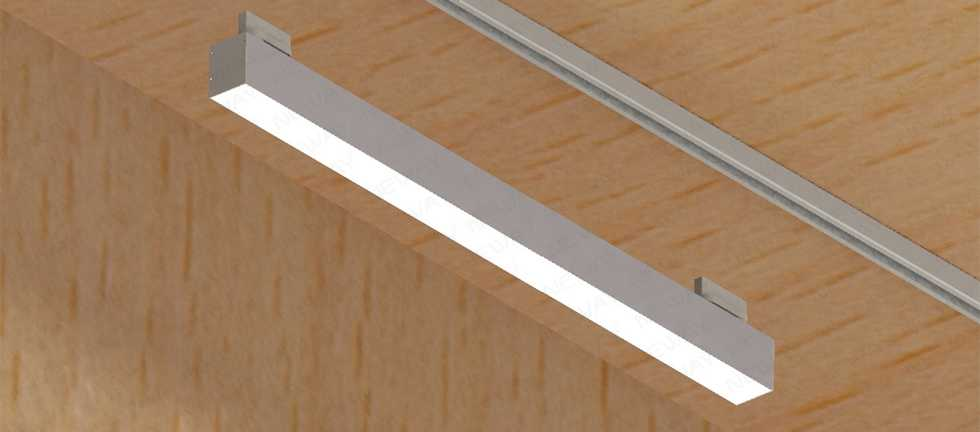 Continuous Track Rail System Led Linear Light For