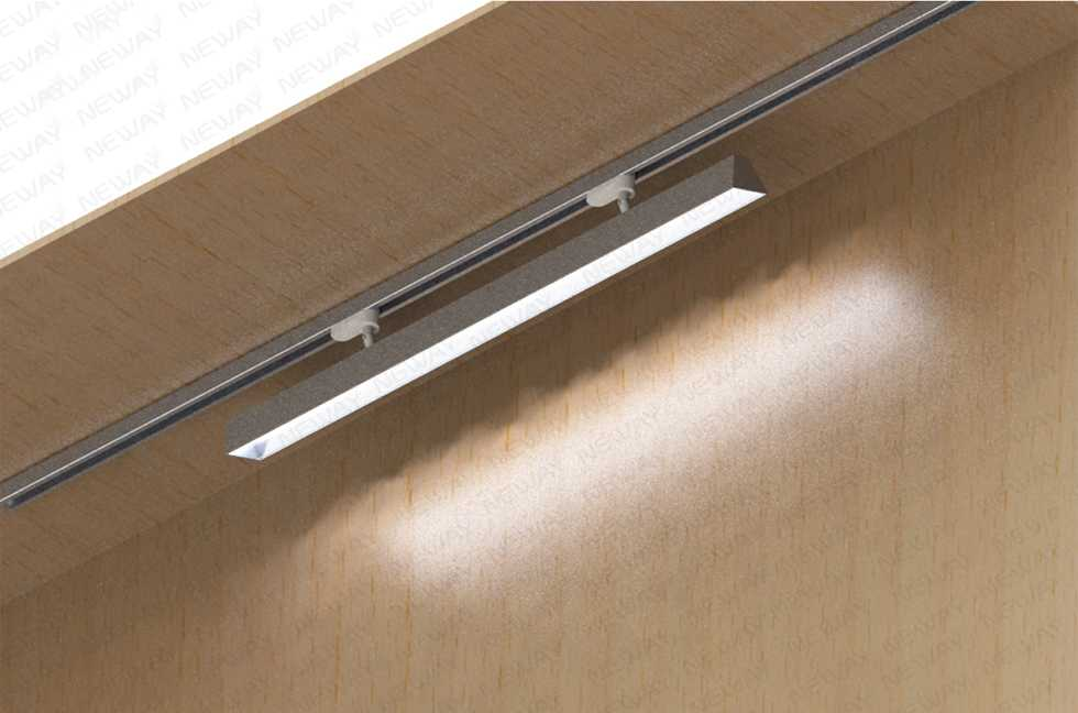 led liner lighting system with track led linear light