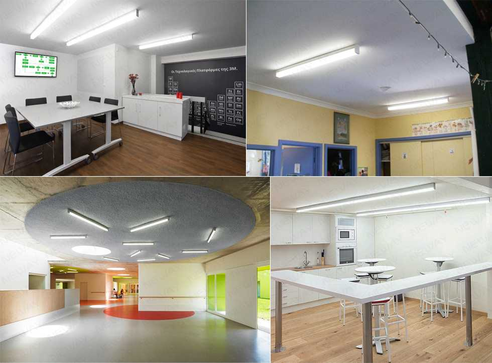 contemporary ceiling lights for office, office surface mount