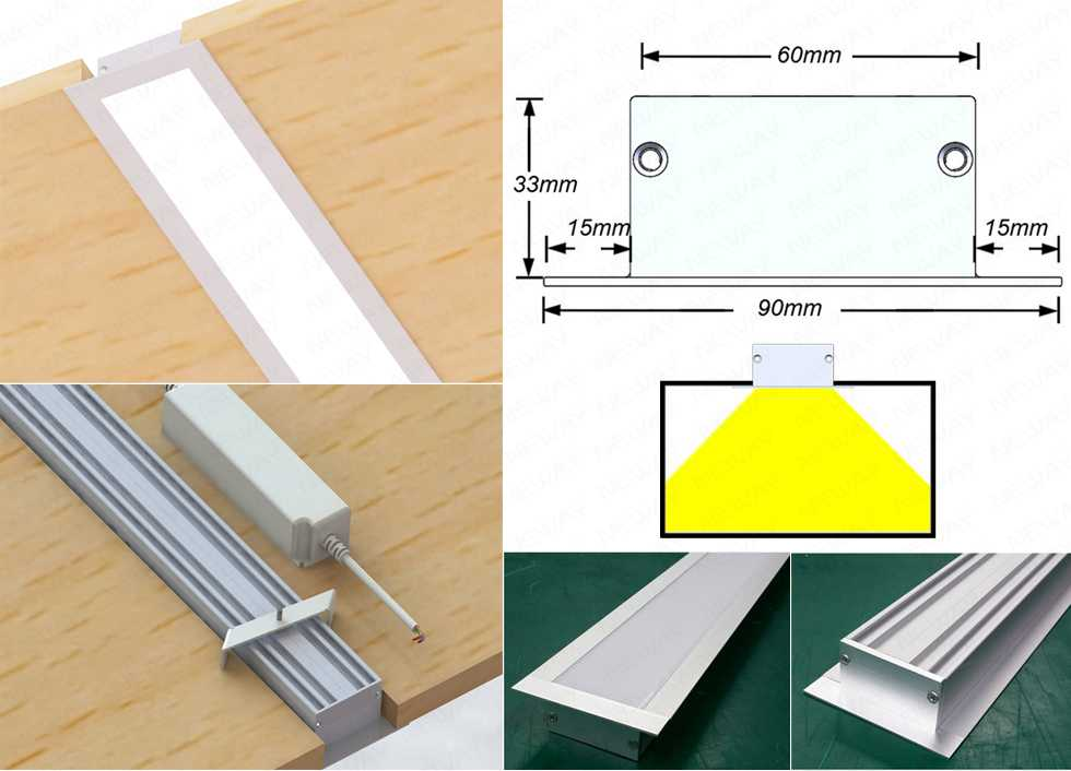 White Color Modern Design Linear Ceiling Recessed Lamp