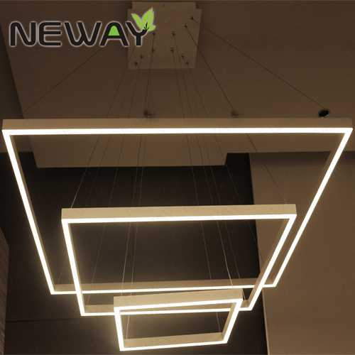 High Quality Modern Decorative Lighting National Ceiling: LED Square Pendant Light Fixtures