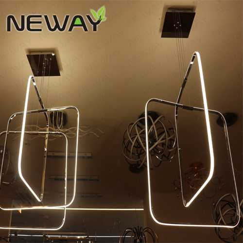 LED Square Pendant Light Fixtures